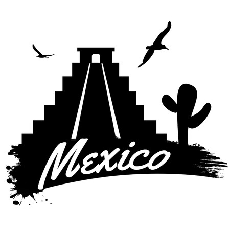 Mexico in vintage style poster, vector illustration Vector