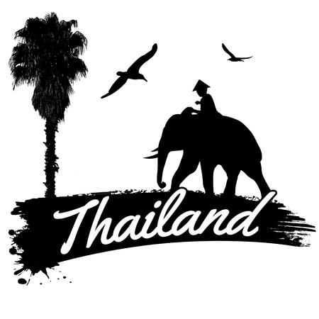 Thailand in vintage style poster, vector illustration Vector