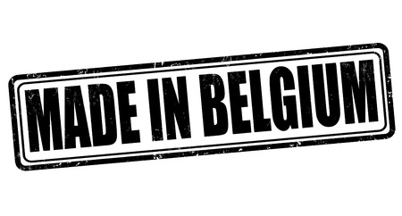 Made in Belgium grunge rubber stamp on white, vector illustration Vector