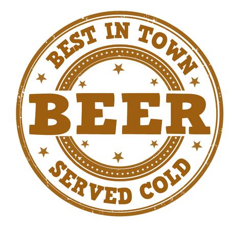 Beer grunge rubber stamp on white, vector illustration Stock Vector - 27172912