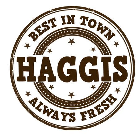 Haggis grunge rubber stamp on white, vector illustration Vector