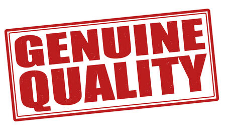 Genuine quality grunge rubber stamp on white, vector illustration