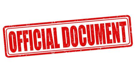 official symbol: Official document grunge rubber stamp on white, vector illustration Illustration