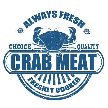 crab meat: Grunge rubber stamp with the text crab meat written inside, vector illustration