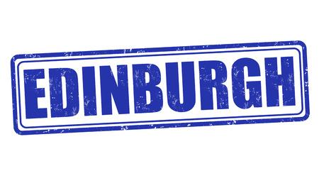 edinburgh: Edinburgh Grunge-Stempel auf wei�, Vektor-Illustration