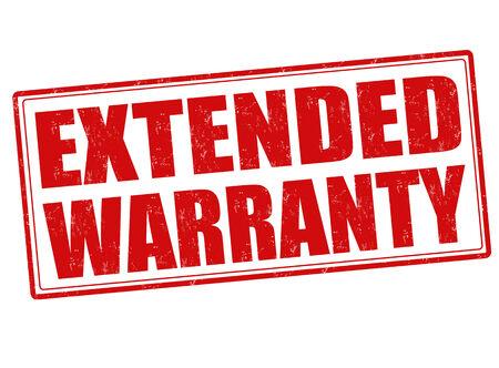 extended: Extended warranty grunge rubber stamp on white, vector illustration