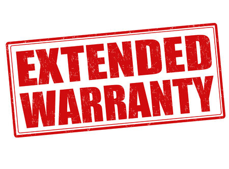 Extended warranty grunge rubber stamp on white, vector illustration