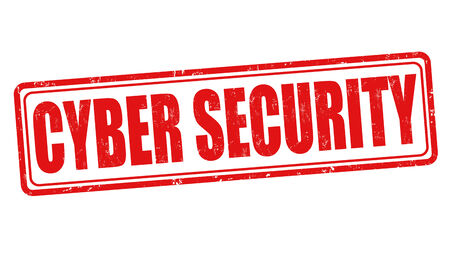 cyber security: Cyber security  grunge rubber stamp on white, vector illustration
