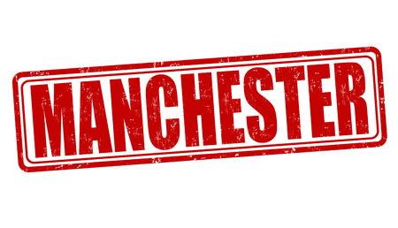 manchester: Manchester grunge rubber stamp on white, vector illustration Illustration