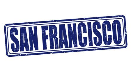 francisco: San Francisco grunge rubber stamp on white, vector illustration