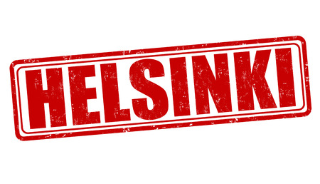 Helsinki  grunge rubber stamp on white, vector illustration Vector