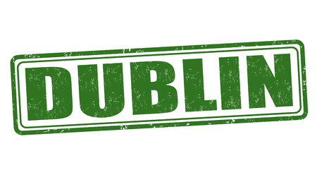 dublin: Dublin grunge rubber stamp on white, vector illustration