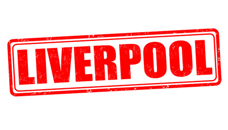 liverpool: Liverpool grunge rubber stamp on white, vector illustration