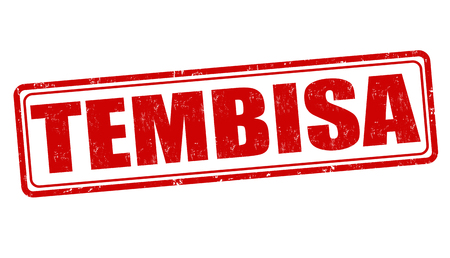 gauteng: Tembisa grunge rubber stamp on white, vector illustration Illustration