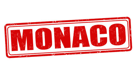 monaco: Monaco grunge rubber stamp on white, vector illustration