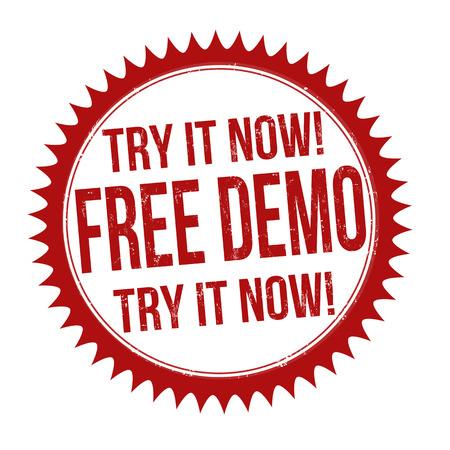 Free demo grunge rubber stamp on white