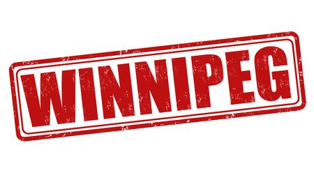 winnipeg: Winnipeg grunge rubber stamp on white, vector illustration