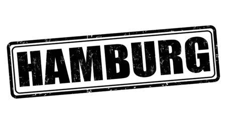 hamburg: Hamburg grunge rubber stamp on white, vector illustration