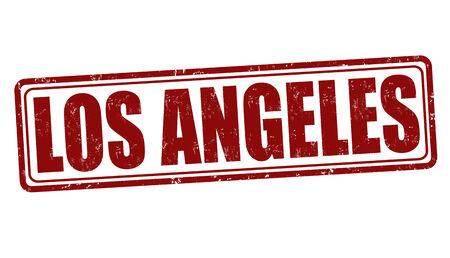 los angeles: Los Angeles Grunge-Stempel auf wei�, Vektor-Illustration