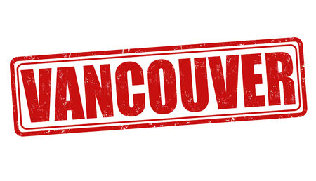 vancouver city: Vancouver grunge rubber stamp on white, vector illustration