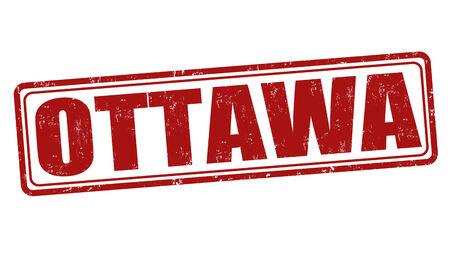 Ottawa grunge rubber stamp on white, vector illustration Vector