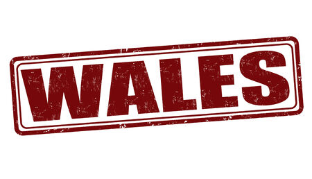 Wales  grunge rubber stamp on white, vector illustration
