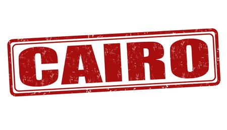 cairo: Cairo grunge rubber stamp on white, vector illustration Illustration