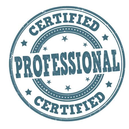 Certified Professional Grunge-Stempel auf weiß, Vektor-Illustration Standard-Bild - 27710202