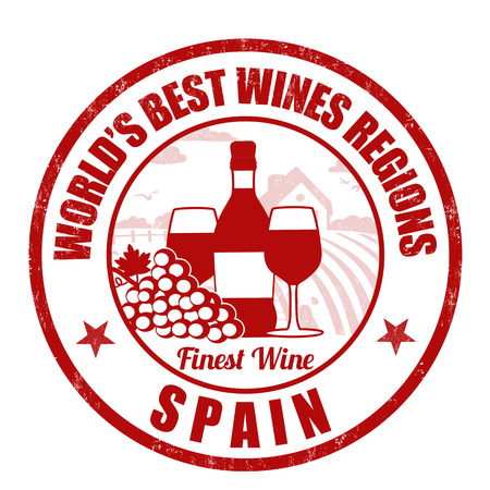 finest: Spain, finest wine grunge rubber stamp on white background, vector illustration