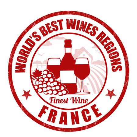 finest: France, finest wine grunge rubber stamp on white background, vector illustration