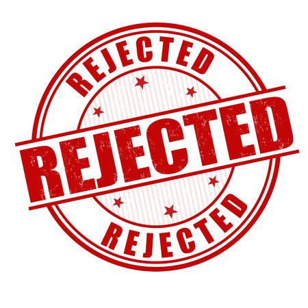 acceptation: Rejected grunge rubber stamp on white, vector illustration