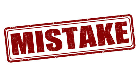 mistake: Mistake grunge rubber stamp on white, vector illustration