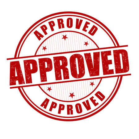 approbation: Approved grunge rubber stamp on white, vector illustration