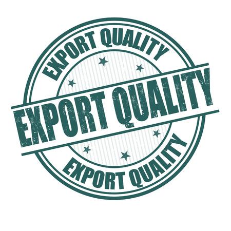 Export kwaliteit grunge rubber stempel op wit, vector illustratie