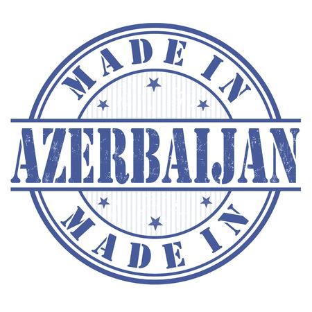azerbaijan: Made in Azerbaijan grunge rubber stamp on white, vector illustration