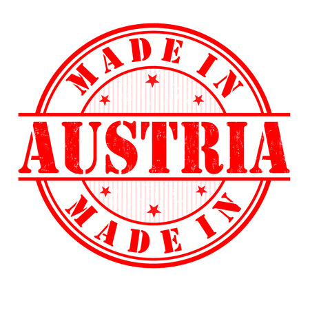 Made in Austria grunge rubber stamp on white, vector illustration Vector