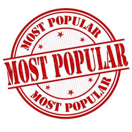 Most popular grunge rubber stamp on white, vector illustration Vector