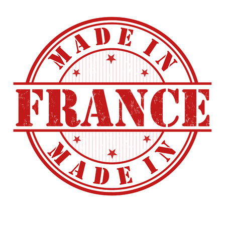 Made in France grunge rubber stamp on white, vector illustration Vector