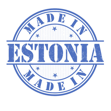 Made in Estonia grunge rubber stamp on white, vector illustration Vector