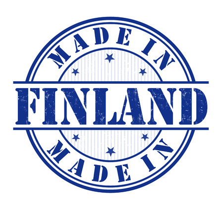 Made in Finland grunge rubber stamp on white, vector illustration Vector