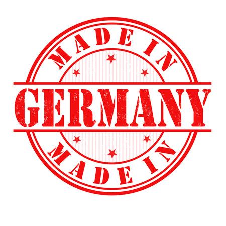 deutchland: Made in Germany grunge rubber stamp on white, vector illustration