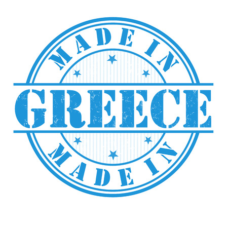 Made in Greece grunge rubber stamp on white, vector illustration Vector
