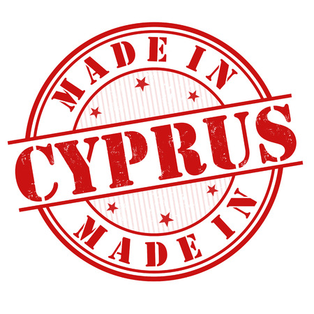cyprus: Made in Cyprus grunge rubber stamp on white, vector illustration