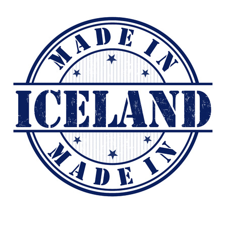 Made in Iceland grunge rubber stamp on white, vector illustration Vector