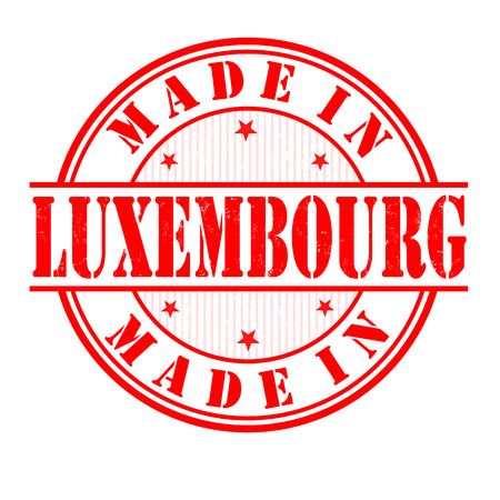 exported: Made in Luxembourg grunge rubber stamp on white, vector illustration