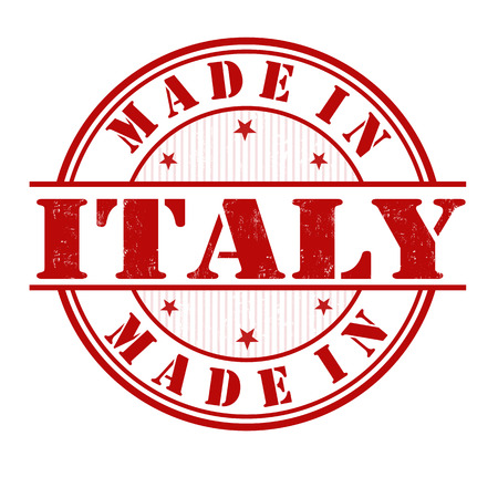 Made in Italy grunge rubber stamp on white, vector illustration Vector