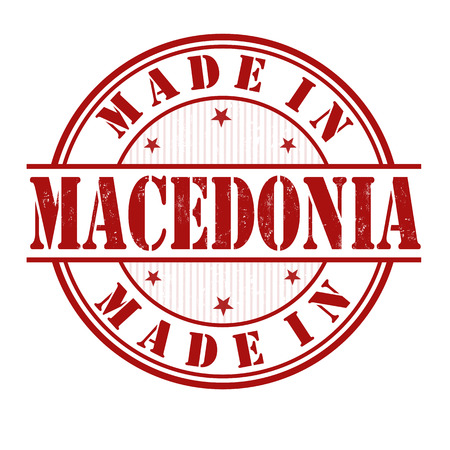 macedonia: Made in Macedonia grunge rubber stamp on white, vector illustration