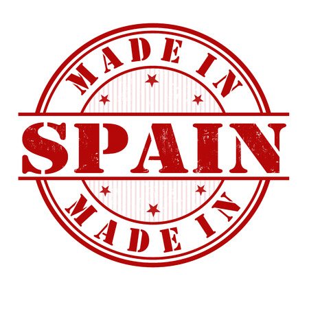 made in spain: Made in Spain grunge rubber stamp on white, vector illustration