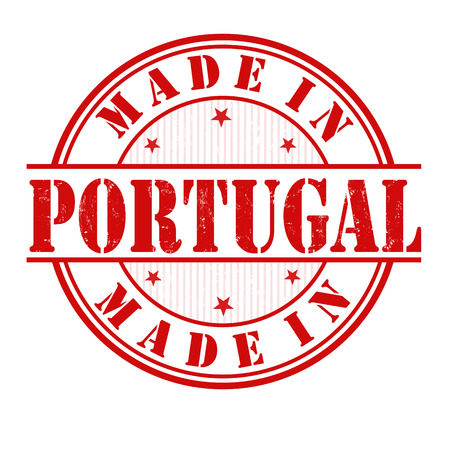 made in portugal: Made in Portugal grunge rubber stamp on white, vector illustration Illustration