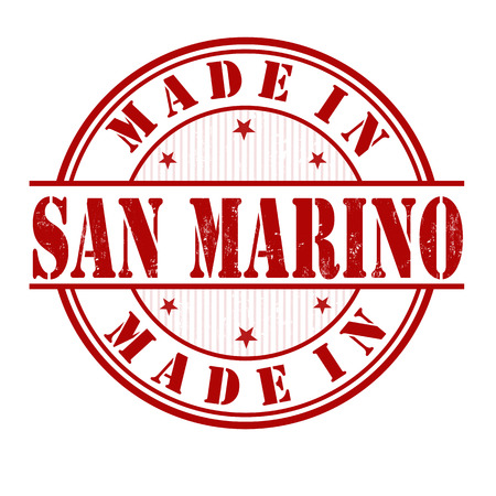 Made in San Marino grunge rubber stamp on white, vector illustration Vector